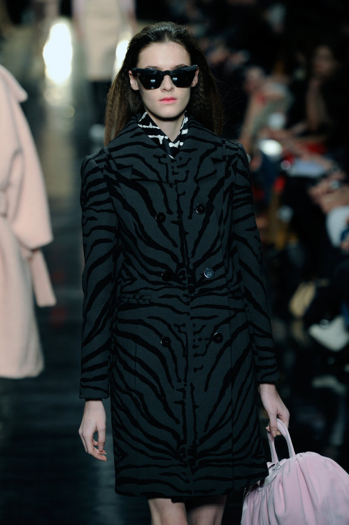 wgsn:  Zebra-printed outerwear at #Carven nods to the animal print trend that has been huge this season #PFW