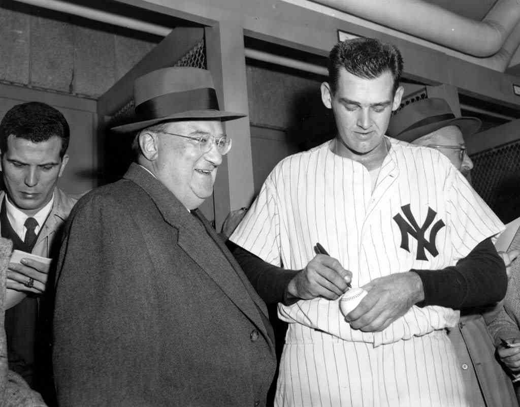 From The Associated Press:  The uniform Don Larsen was wearing when he pitched the only perfect game in World Series history has sold for $756,000.The former New York Yankees' right-hander achieved perfection in Game 5 of the 1956 Series against the Brooklyn Dodgers.The pinstriped uniform with No. 18 on the back received 22 bids in an online auction on Steinersports.com. The winning bidder was Pete Seigel, CEO of GottaHaveIt.com. His company has been building a collection of Yankees memorabilia that it plans to put on display. (Photo: AP/Files)