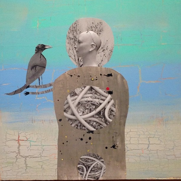 Woman w/a Crow by Holly Roberts- Catherine Edelman Gallery