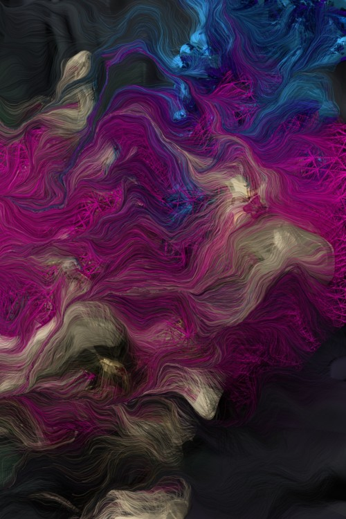 a—n—f:  Andreas Nicolas Fischer; Schwarm VII; [generative Software]; 2013; Dimensions variable;