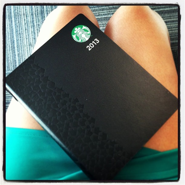 Ready for the new year! Thanks @mikepehipol! #starbucksplanner #gettingreadyfor2013 (at Wunderman)