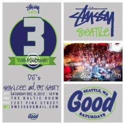 STÜSSY SEATTLE is celebrating 3 years keeping the town fresh and fitted! GOODsaturdays @ Baltic Room this weekend. @residentmedia #seattle #stussy #capitalhill #dance #party #baltic #GOODsaturdays