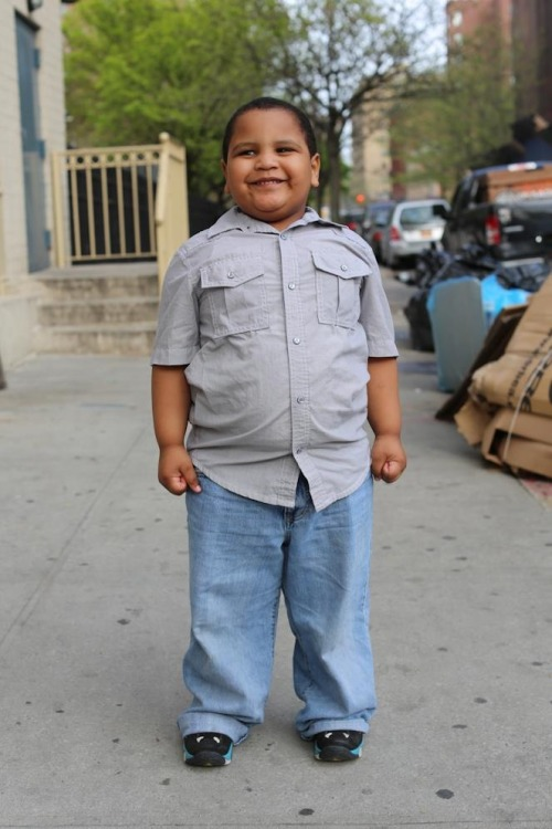 "Love this little butterball. humansofnewyork:  ""What was the happiest moment of your life?"" ""When I got my red toy!"""