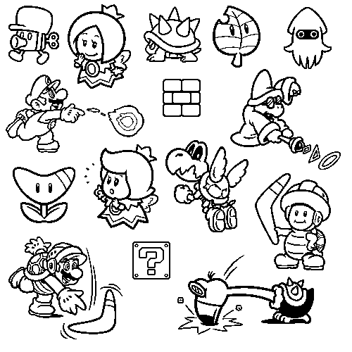 Supper Mario Broth - All the stamps from Super Mario 3D World.