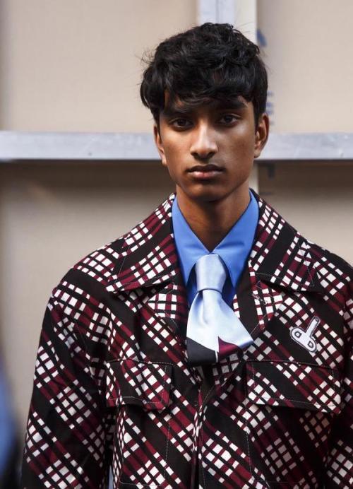 Jeenu Mahadevan Backstage Marni FW18 MFW Fashion Week