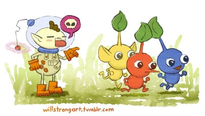 willstrongart:  I love Pikmin. So many adorable, little deaths.