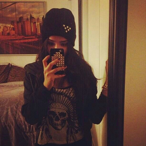 Our very own model @ayegela in the studded beanie. <3