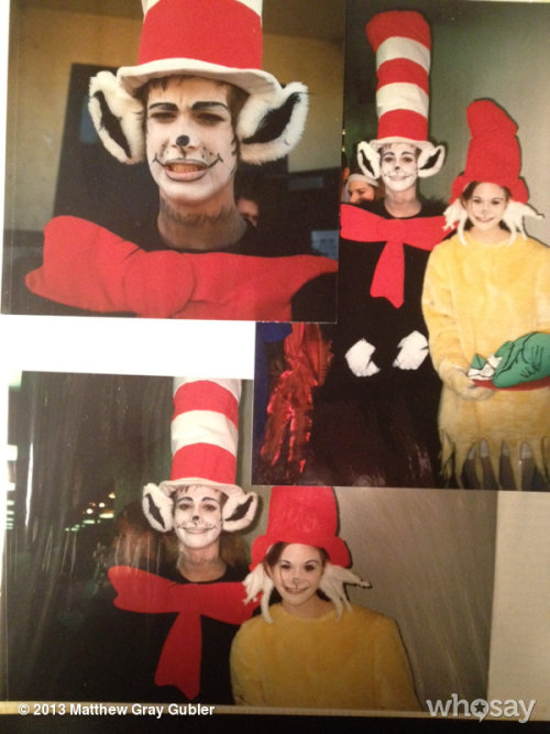 i once played the cat in the hat in a high school playView more Matthew Gray Gubler on WhoSay