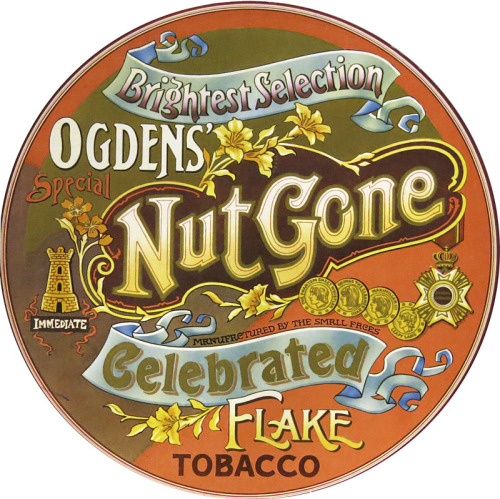 Small Faces - Ogdens' Nut Gone Flake, 1968 Circular record sleeve designInterior panel illustration by P. Brown via { feuilleton }