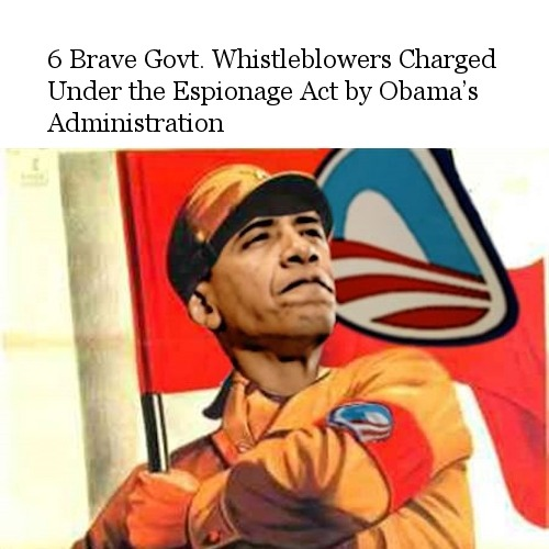 6 Brave Govt. Whistleblowers Charged Under the Espionage Act by Obama's Administration - http://bit.ly/12T4ich
