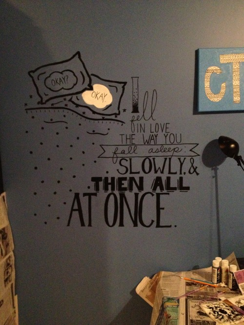 fancylivinstartshere:  This is whats on my wall and I think you should be jealous.