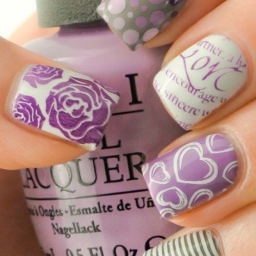 cheronique:  These are cute ! #NAILS #nailpolish #nailsig #nails #manicure #purple #opi