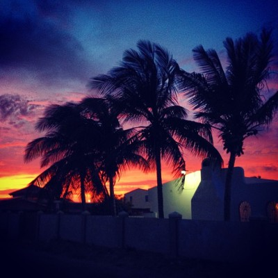 Caribbean #sunset #aruba (at Primavera)