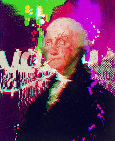 #presidentsday, #president, #george_washington, #glitch_art, #glitch, #curioos