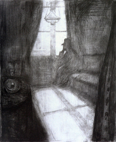 bizarrereverie:  Edvard Munch, Moonlight (1895)