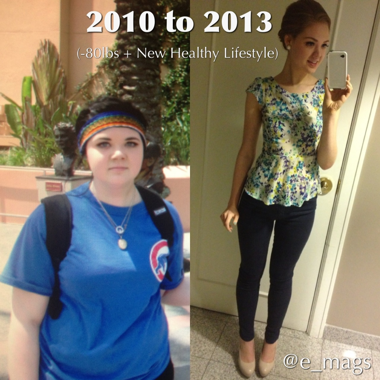 """beforeandafterfatlosspics:ellenkeepsitcleanYou can do anything you set your mind to! Just NEVER stop trying! (5'9"""" US Size 18 to US size 3-4) Every little change gets you one step closer to your goal XOXO -Ellen"""