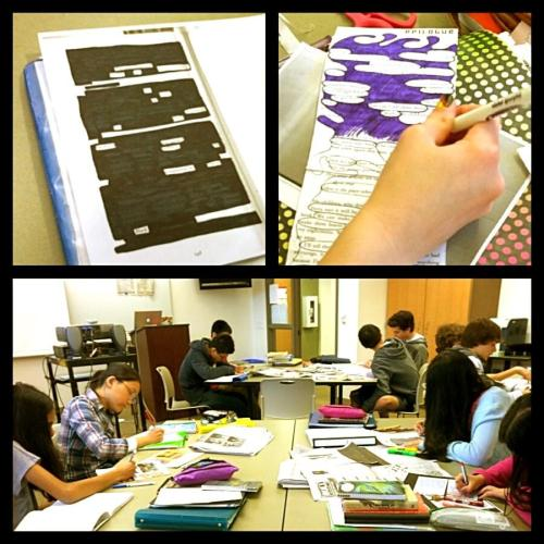 I never get sick of pictures of classrooms doing blackout poetry. (via @thereadingzone)