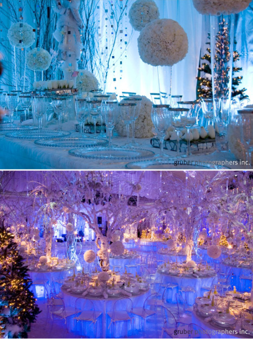 I love winter wedding decor! So dreamy!