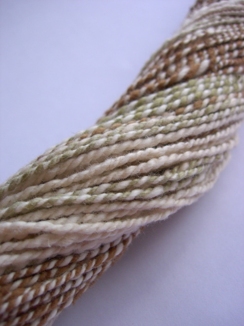 Handspun cotton yarn, organic undyed color-grown Wonderful, soft Summer yarn! http://etsy.me/ZsGYlS