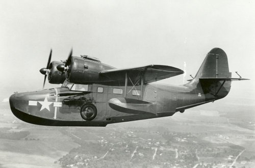 Amphibious Warplanes…Image No.2: the Grumman G-21 Goose. Used during the Second World War by the USN, USAAF, RAF and RCAF the Goose was deployed in many roles including transport, training and air sea rescue.