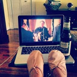 West Wing + beer+ lounge clothes= Sunday Funday