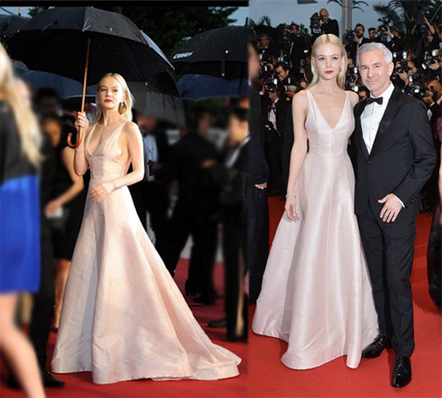 Cannes Film Festival Carey Mulligan wore a Christian Dior Couture satin gown with Tiffany jewels to the opening ceremony of 'The Great Gatsby.'