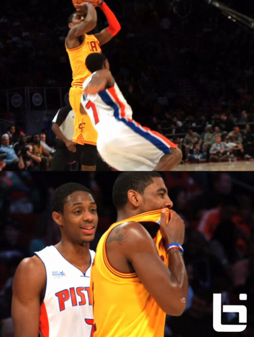 @Ballislife: Kyrie Irving laughs at Brandon Knight after breaking his ankles! (And if you missed it… here's a video.)