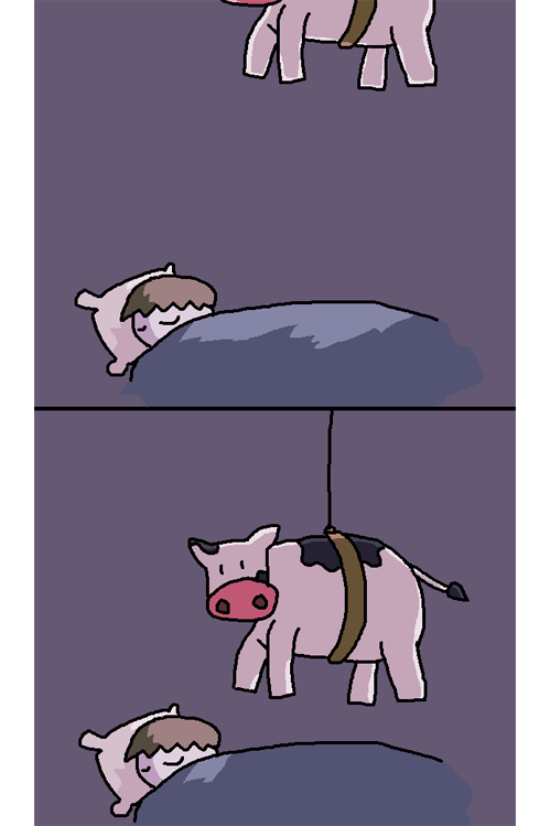 tastefullyoffensive:  How cowlicks actually happen.