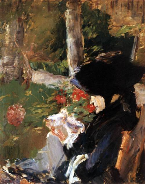 impartart:  Edouard Manet, Manet's Mother in the Garden at Bellevue  Funny….I can tell a Manet painting anywhere. I know his technique very well.