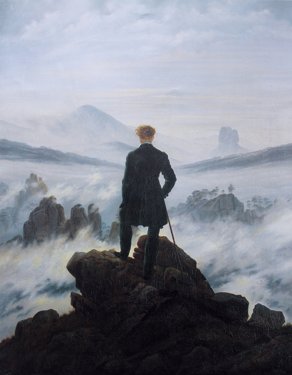 Caspar David Friedrich - The Wanderer Above the Sea of Fog (1818)