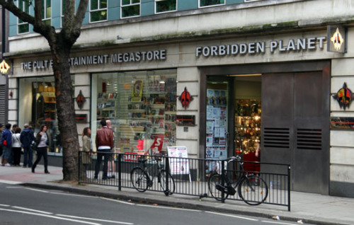 Forbidden Planet, London! The place to be at 6pm tonight, where I'll be launching The Fictional Man, with help from the good folks at Solaris and Forbidden Planet, and doing a reading of same! Be there! The address is here, along with details of other signings.