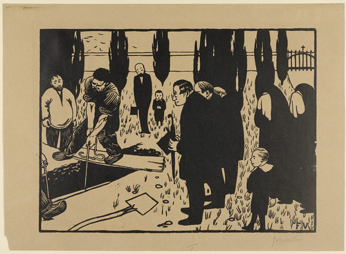 centuriespast:   The Funeral Félix Vallotton (French, 1865–1925) (1891). Woodcut, MoMA