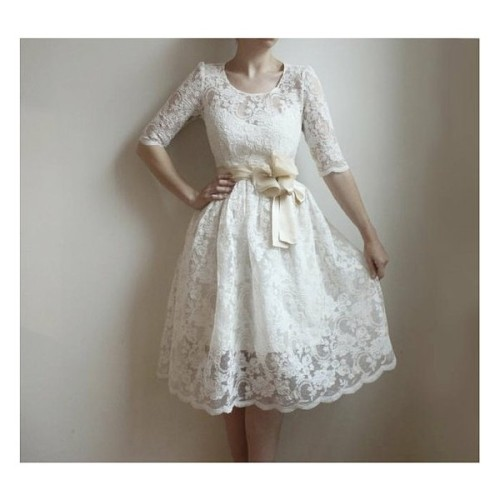 rako93:  Ellie—2 Piece, Lace and Cotton Wedding Dress (clipped to polyvore.com)