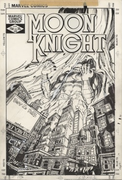 The cover to MOON KNIGHT #20 by Bill Sienkiewicz.