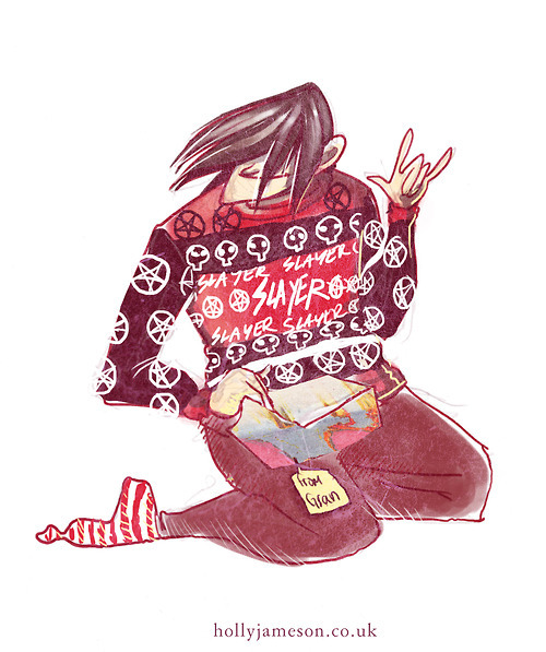 Metal Xmas Art by me.(this sweater exists)
