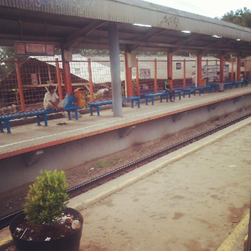 Citayam station #bogor #train #trip #evening