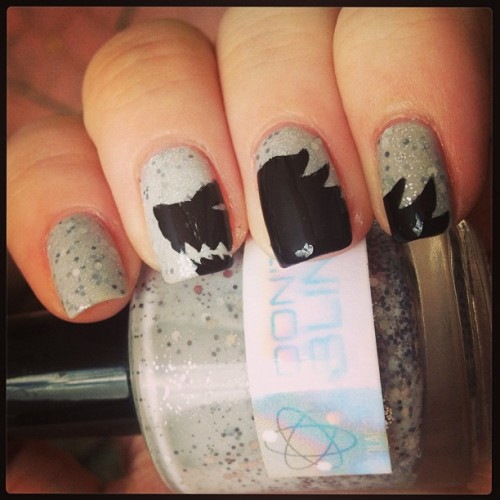 #gameofthrones #nerdlacquer Don't Blink. Winter is coming, bitches! #housestark