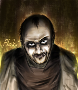 Floki Smile by ~DAZKO FLOKI! FROM VIKINGS! one of my favourite shows currently, shame the season was so short.