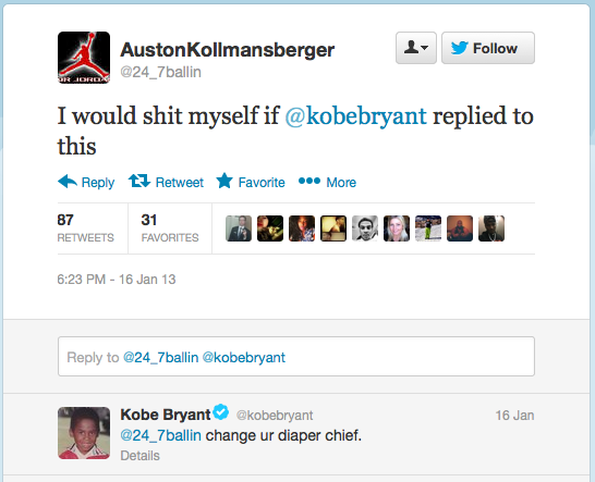 gotemcoach:  Kobe on twitter is glorious (in both an amazing and horrible way).