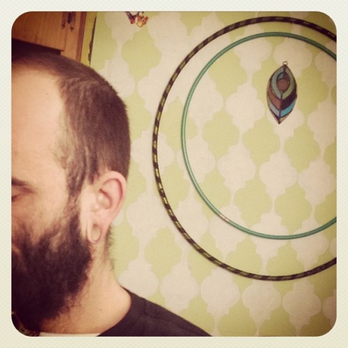 TheBeard that I so love. #hulahoop #gaugedears #lips #ears #gross #primal #tribal #love #artstudio #janeticsink #husband #interracial #married #beard #vermont #proctorsville