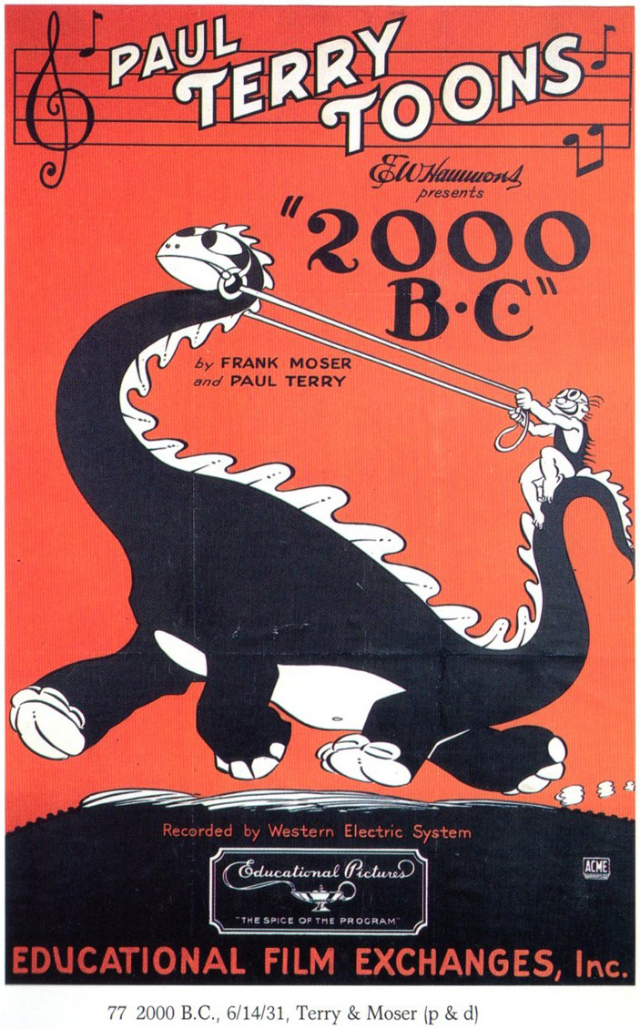 Poster for Paul Terry Toons' 2000 B.C., 1931 via Michael Sporn