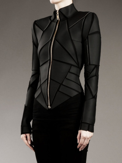 takealefthere:  edge-to-edge:  Gareth Pugh Geometric Panelled Jacket.  Would wear the shit out of this on a day-to-day basis.