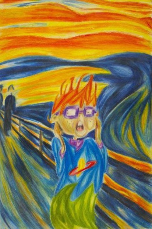 Edvard Munch's Chuckie Finster Behold the inner turmoil of a scaredy-cat.