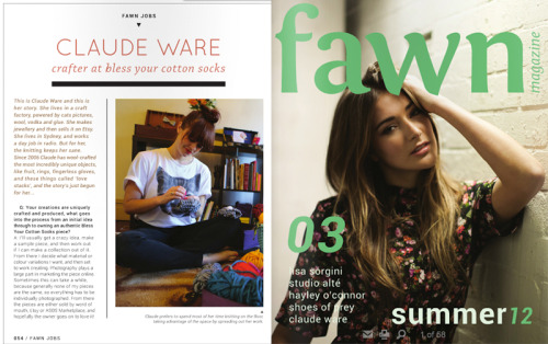 We did an interview with the lovely people over at Fawn Magazine about how we go about things here at BYCS. Needless to say the studio has never looked as tidy as it did in these shots, but they will serve as an eternal reminder of what is possible.  You can read our Q&A over here