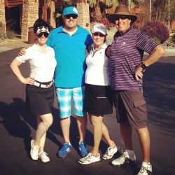 Golfing with my parents in Palm Desert