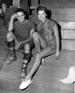 1953 Marlon Brando and Esther Williams in Julius Ceasar