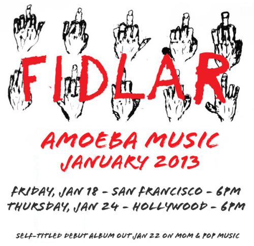 amoebamusic:  JUST ADDED: LA punk band FIDLAR performs at Amoeba San Francisco on January 18 and Amoeba Hollywood on January 24. Both shows are free & all-ages.