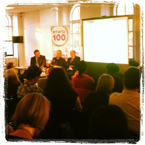 #Smarta100 full house… Great hearing my sweet cousin @SirNeedham  speaking  #brilliant … Hopefully runs in the family!