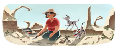 Mary Leakey's 100th birthday on google's doodle!