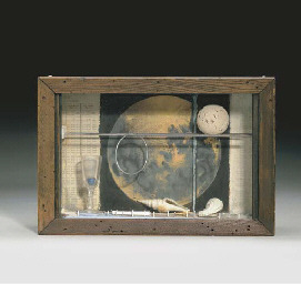 Joseph Cornell (1903-1972) | Untitled (Soap Bubble Set: Lunar Space Object Series) | Christie's Joseph Cornell, Untitled (Soap Bubble Set), 1950s